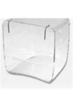 Badehaus transparent mit Drahtbügel