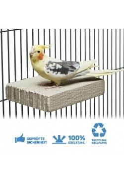 Cardboard Treat Block Sitzbrett zum Schreddern aus Wellpappe